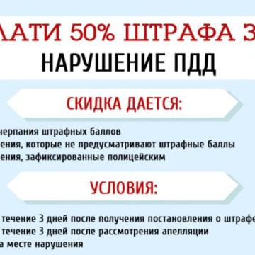Как добиться 50% скидки за нарушение ПДД – инфографика
