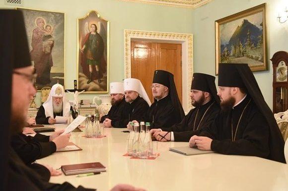 У патриарха Филарета проходит Архиерейский собор УПЦ КП