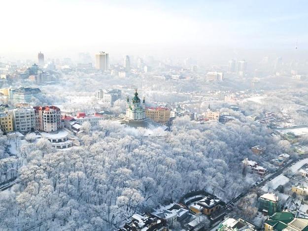 Намело: Киев попал в рейтинг заснеженных городов Европы