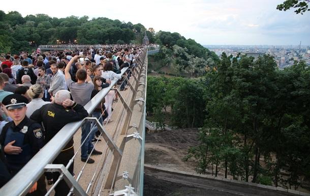 В Киеве открыли мост через Владимирский спуск