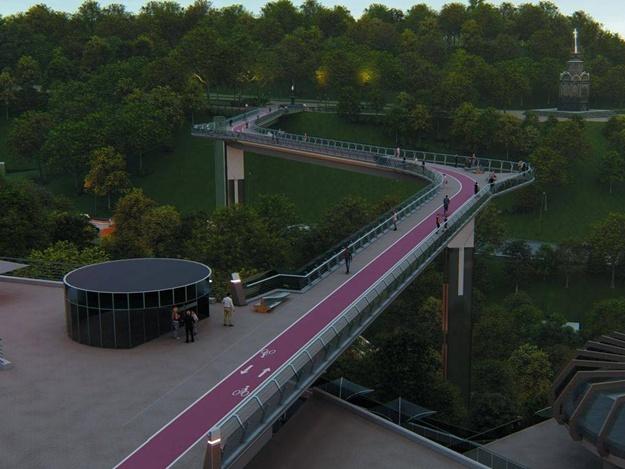 Швейцарские архитекторы обвинили Киев в плагиате пешеходного моста на Владимирскую горку